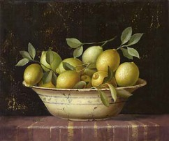 Fabrice de Villeneuve Bowl of Lemons