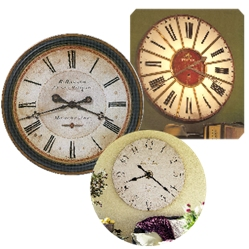 Oversized Antique Style Wall Clocks