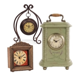 Table, mantel & alarm clocks