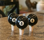 Eight Ball Pool Wine Stoppers