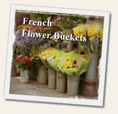 French Flower Buckets