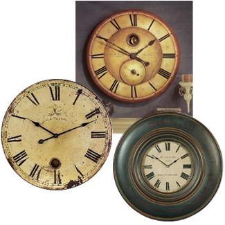 Large Wall Clocks by Timeworks Howard Miller Uttermost
